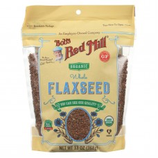 Bobs Red Mill Organic Flaxseeds - Brown - Case Of 6 - 13 Oz