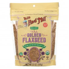 Bobs Red Mill Organic Flaxseeds - Golden - Case Of 6 - 13 Oz