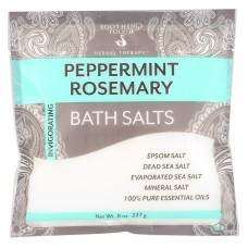Soothing Touch Bath Salts - Peper Rosemary - Case Of 6 - 8 Oz