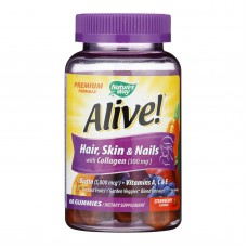 Natures Way - Alive! Hair Skin And Nails Gummies With Collagen - 60 Gummies