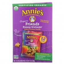 Annies Homegrown Snack Pack - Organic - Bunny Grahms - Frd - 12 - Case Of 4 - 12/1 Oz