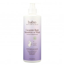 Babo Botanicals Shampoo - Lavender And Meadowsweet - Case Of 1 - 16 Fl Oz.