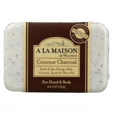 A La Maison Bar Soap - Coconut Charcoal - 8.8 Oz