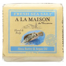 A La Maison Bar Soap - Fresh Sea Salt  - Case Of 6 - 3.5 Oz