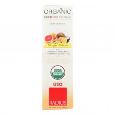 Radius Whitening Ginger Citrus With Coconut Oil Toothpaste  - 1 Each - 3 Oz