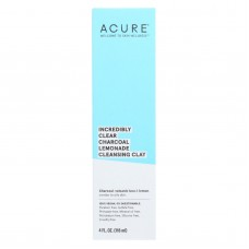 Acure - Charcoal Lemonade Cleansing Clay - Incredibly Clear - 4 Fl Oz.
